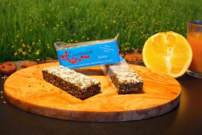 Kokos-Müsliriegel zur Vorbeugung von Eisenmangel