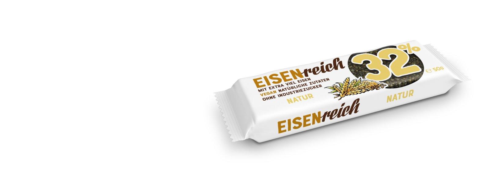 Natur-Müsliriegel aus eisenhaltigen Lebensmitteln zur Vorbeugung von Eisenmangel