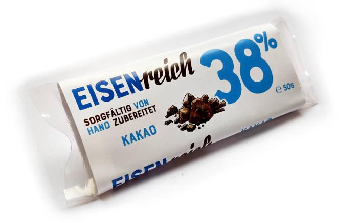 Eisenreich Kakao Riegel gegen Eisenmangel